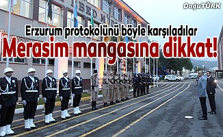 Erzurum protokolü polis adaylarıyla iftar yaptı