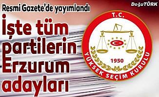 Geçici milletvekili aday listeleri açıklandı