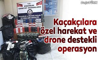 Sigara kaçakçılarına özel harekat ve drone destekli operasyon