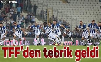 TFF'den BB Erzurumspor'a kutlama