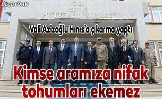 Vali Azizoğlu Hınıs'a çıkarma yaptı