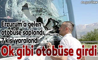 Aracın ön camından girdi: 7 yaralı