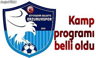 BB Erzurumspor'un kamp programı belli oldu