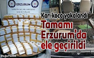 Erzurum'da 82 kilogram eroin ele geçirildi