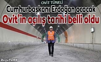Ovit Tüneli için geri sayım başladı