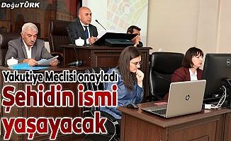 UMKE şehidi Burak Tatar'ın ismi parkta yaşatılacak