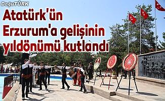 Atatürk'ün Erzurum'a gelişinin yıldönümü kutlandı