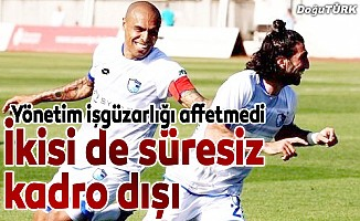 BB Erzurumspor'da iki futbolcu kadro dışı