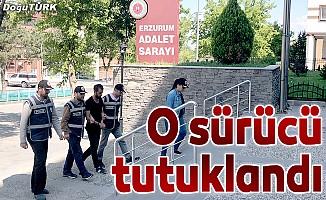Erzurum'da kamyonuyla kaçak taşıyan sürücüye tutuklama