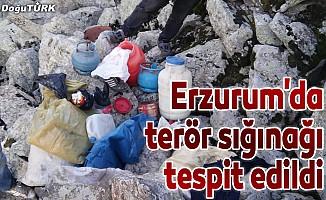 Erzurum'da teröristlere ait sığınak tespit edildi