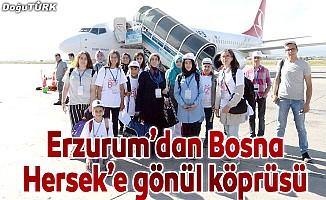 Erzurum'dan Bosna Hersek'e gönül köprüsü