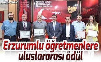 Erzurumlu öğretmen ve okullarına uluslararası ödül