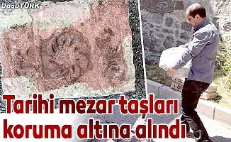 Tarihi mezar taşları koruma altına alındı