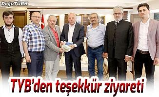 TYB'den Başkan Sekmen'e teşekkür ziyareti