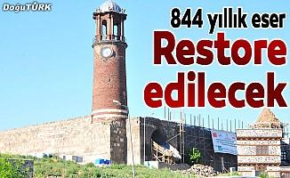 """844 yıllık """"Tepsi Minare"""" restore edilecek"""