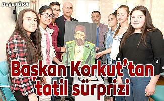 Başkan Ali Korkut'tan öğrencilere tatil sürprizi