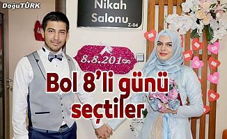 """Çiftler """"08.08.2018""""i seçince nikah salonları doldu"""