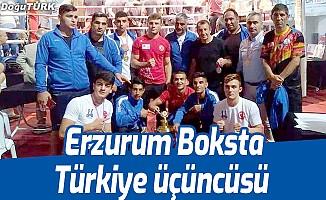 Erzurum Boksta Türkiye üçüncüsü