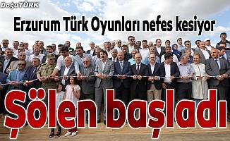 """""""Erzurum Türk Oyunları Festivali"""" başladı"""