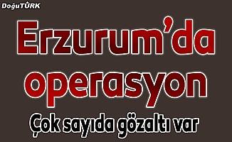 Erzurum'da aranan kişilere yönelik operasyon: 12 gözaltı