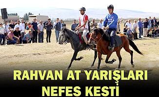 Erzurum'da rahvan at yarışları yapıldı