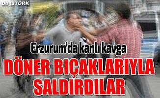 Erzurum'da bıçaklı kavga: 2 yaralı