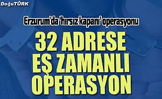 Erzurum'da 'hırsız kapanı' operasyonu: 14 kişi yakalandı