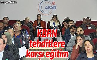Erzurum'da KBRN tehditlere karşı eğitim