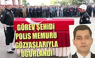 Görev şehidi polis memuru Erzurum'dan uğurlandı