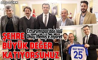 Erzurumspor'dan Vali Okay Memiş'e ziyaret