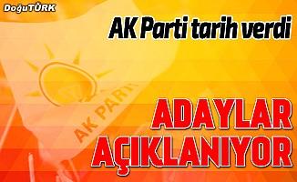 Son dakika haberi... AK Parti adaylarını ilan edecek