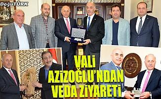 Vali Azizoğlu'ndan veda ziyaretleri