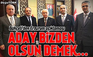 Bahçeli'den Erzurum açıklaması