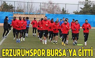 Büyükşehir Belediye Erzurumspor kafilesi Bursa'ya gitti