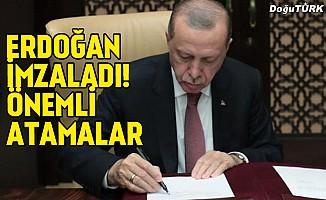 Erdoğan imzaladı! İşte resmileşen önemli atamalar