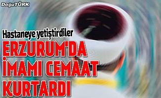 Erzurum'da imamı cami cemaati kurtardı