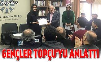 Gençler, TYB Erzurum Şubesi'nde Topçu'yu anlattı