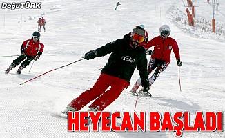 Palandöken'de kayak heyecanı başladı