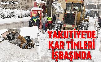 Yakutiye, kar çalışmalarına devam ediyor