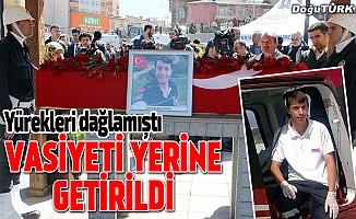 Afrin şehidi Tatar'ın vasiyet yerine getirildi