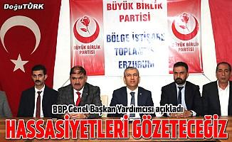 BBP Genel Başkan Yardımcısı Erzurum'da açıkladı