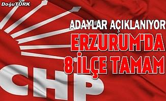 CHP Erzurum'da 8 ilçe adayını açıkladı