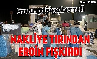 Erzurum'da 217,5 kilogram eroin ele geçirildi