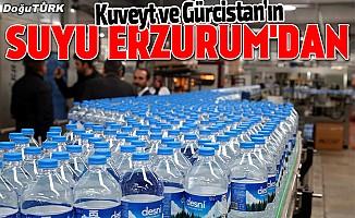 Erzurum'dan Kuveyt ve Gürcistan'a su ihracatı