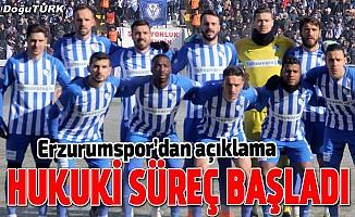 Erzurumspor'dan anlaşmazlık açıklaması