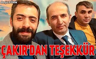 MHP'li Çakır'dan teşekkür mesajı