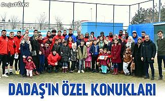 Otizmli çocuklardan Erzurumspor'a ziyaret