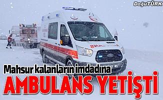 Tipide mahsur kalanların imdadına paletli ambulansla yetiştiler
