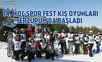 14. Koç Spor Fest Kış Oyunları Erzurum'da başladı