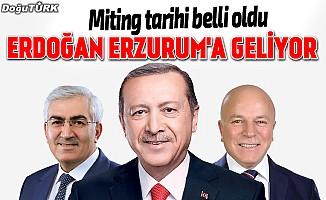 Ak Parti'nin Erzurum mitingi tarihi belli oldu